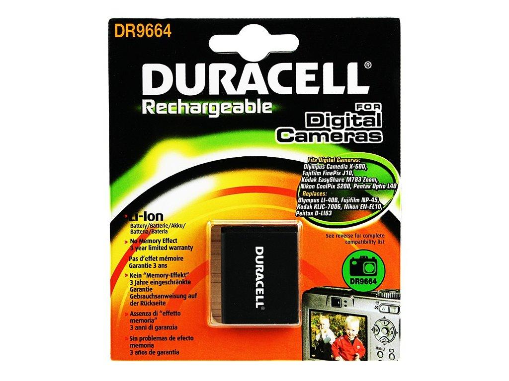 Duracell DR9664, 3,7 V 700 mAh, Lithium ion