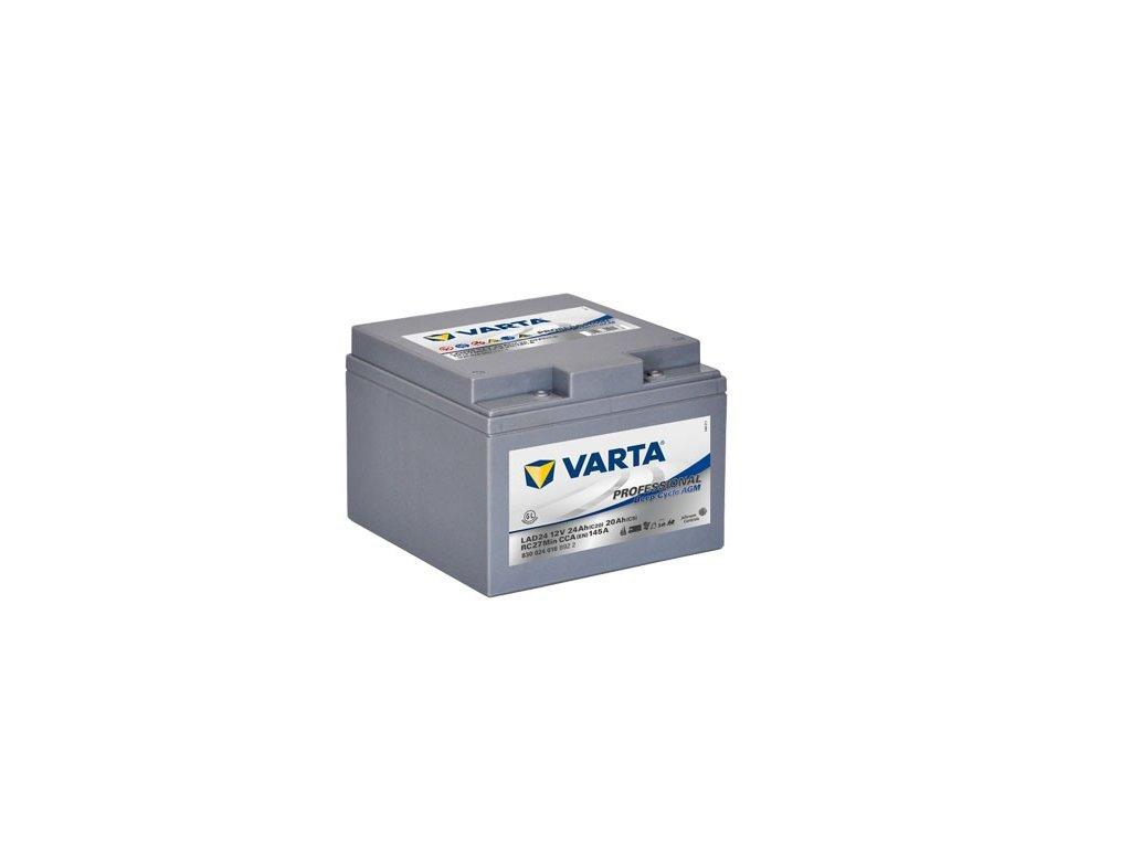 Trakční baterie Varta AGM Professional 830 024 016, 12V - 24Ah, LAD24