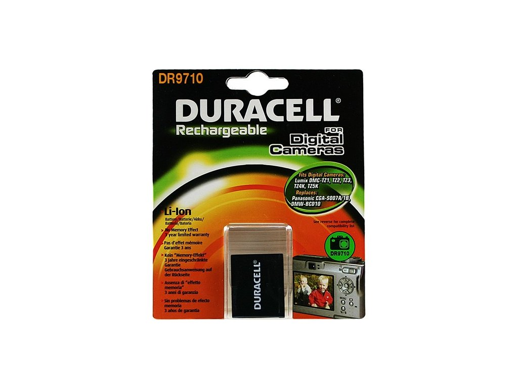 Duracell DR9710, 3,7 V 950 mAh, Lithium ion