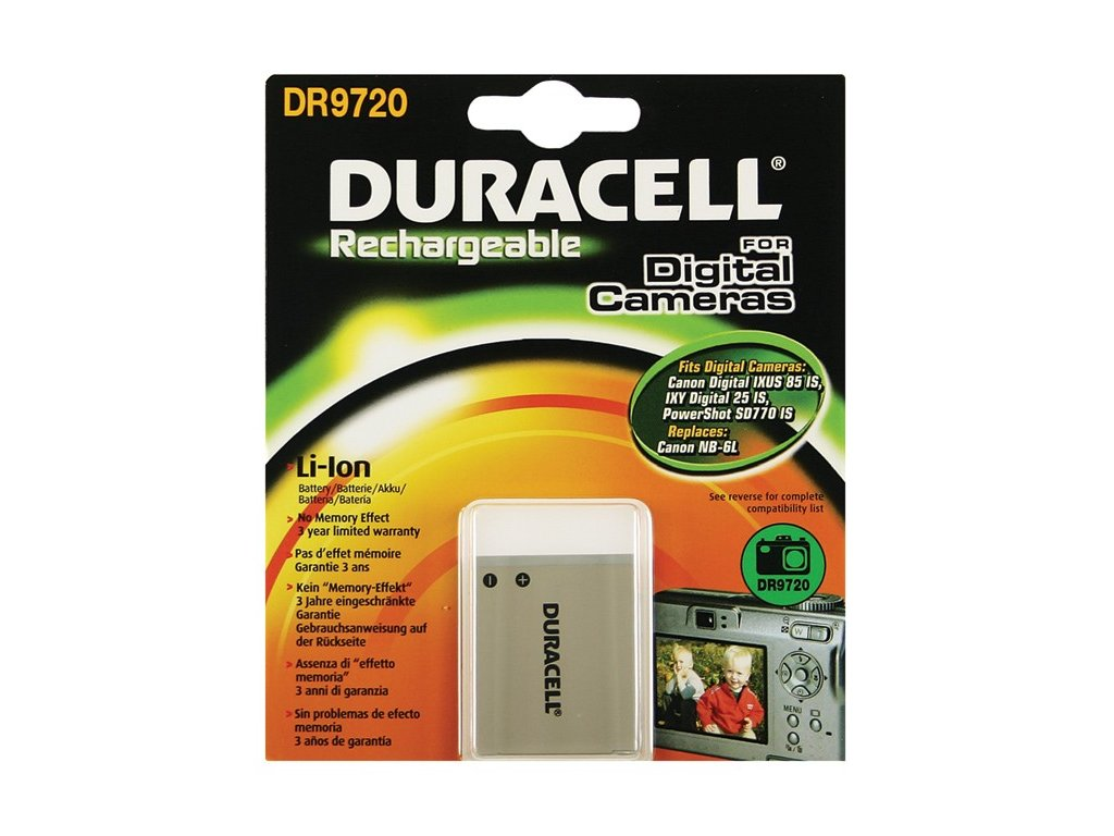 Duracell DR9720, 3,7 V 1000 mAh, Lithium ion