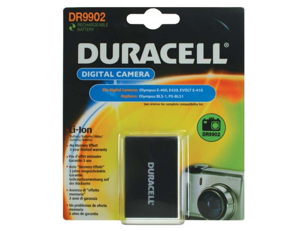 Duracell DR9902, 7,4 V 1100 mAh, Lithium ion