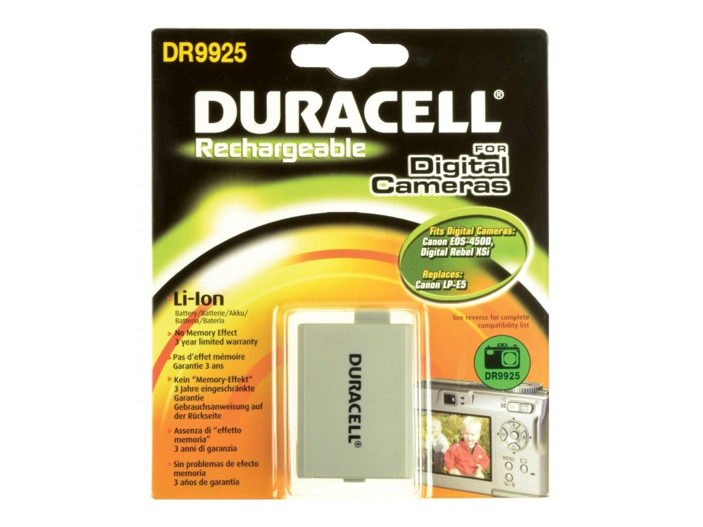 Duracell DR9925, 7,4 V 1020 mAh, Lithium ion