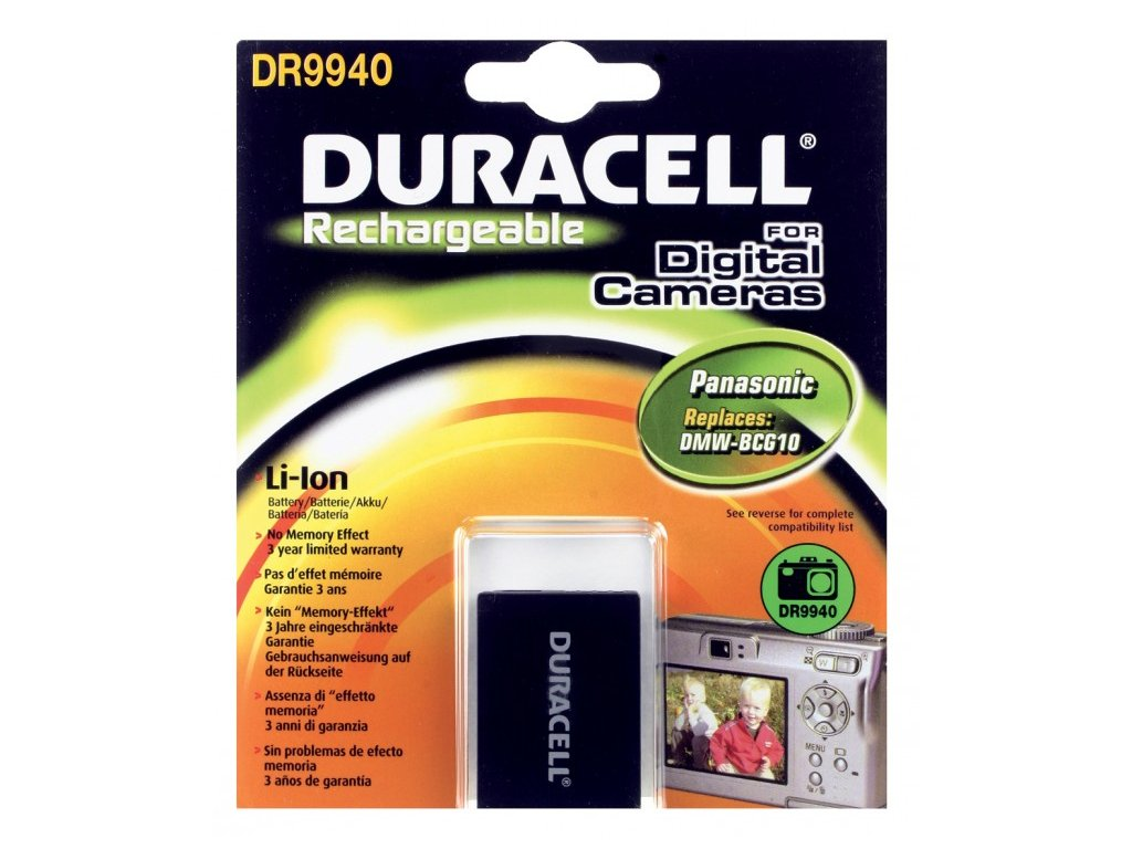 Duracell DR9940, 3,7 V 890 mAh, Lithium ion