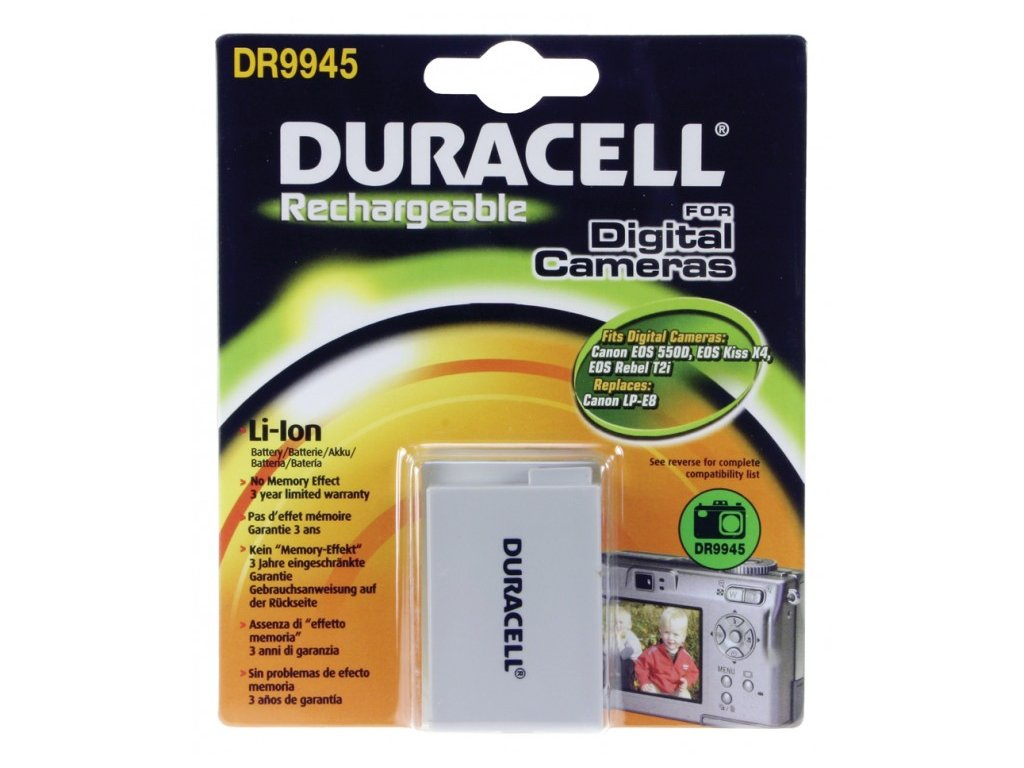 Duracell DR9945, 7,4 V 1020 mAh, Lithium ion