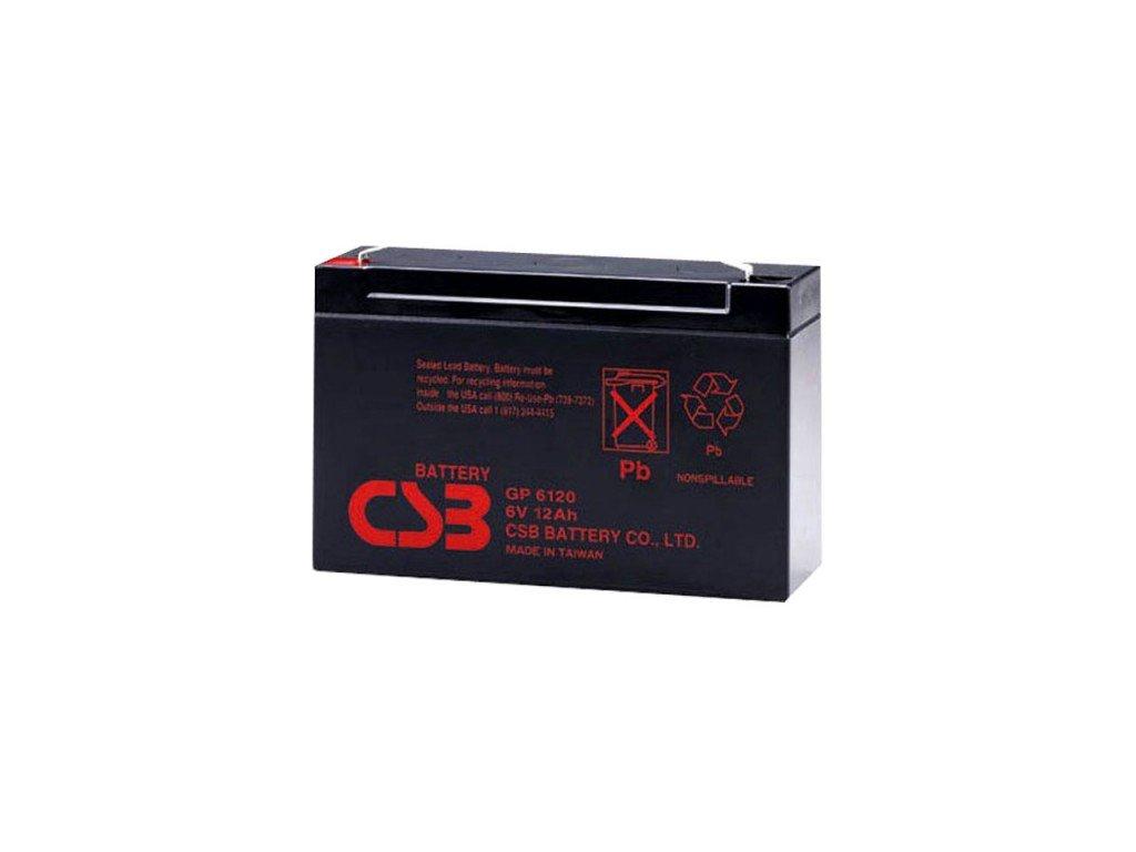 Baterie CSB GP6120 F1, 6V,  12Ah