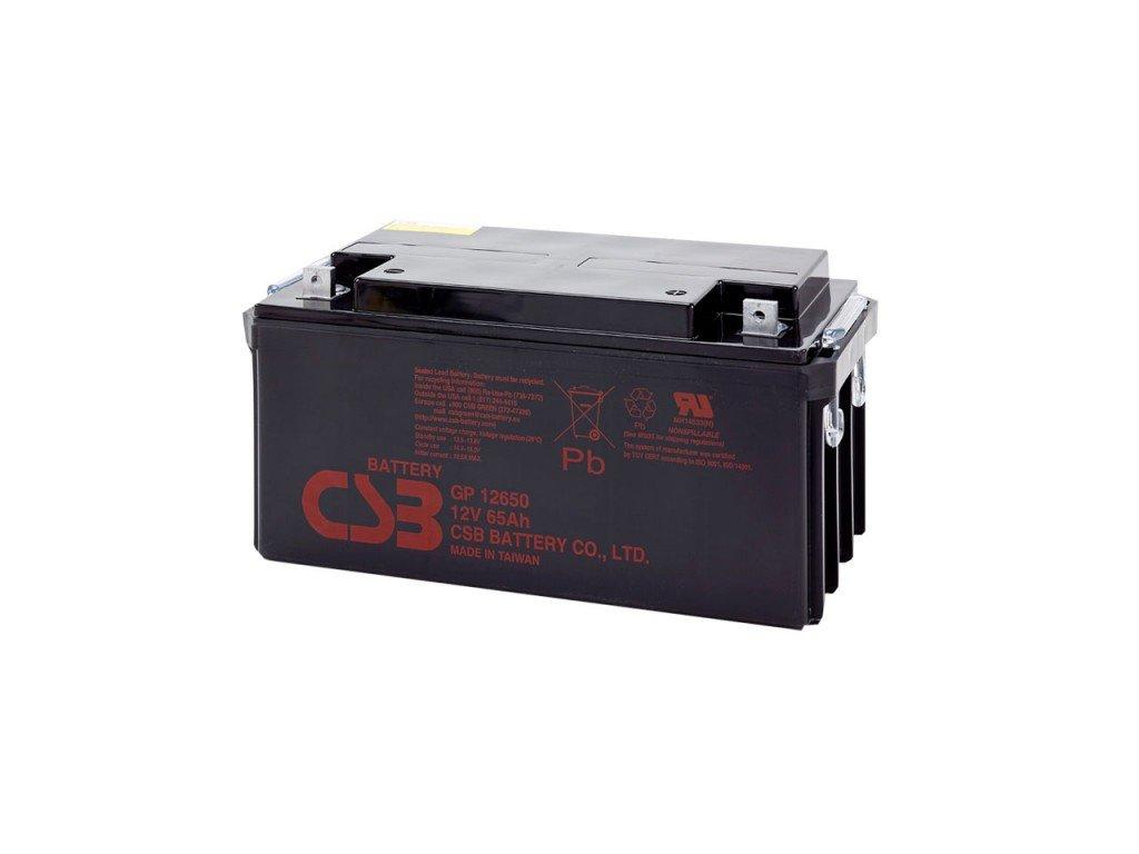 Baterie CSB GP12650, 12V,  65Ah