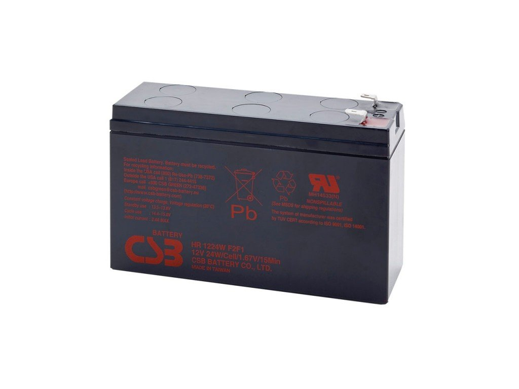 Baterie CSB HR1224W F2F1, 12V, 6,4Ah
