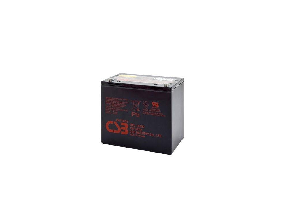Baterie CSB GPL12520, 12V,  52Ah