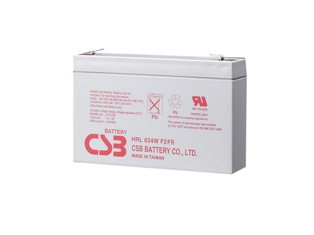 Baterie CSB HRL634W F2, 6V,  9Ah