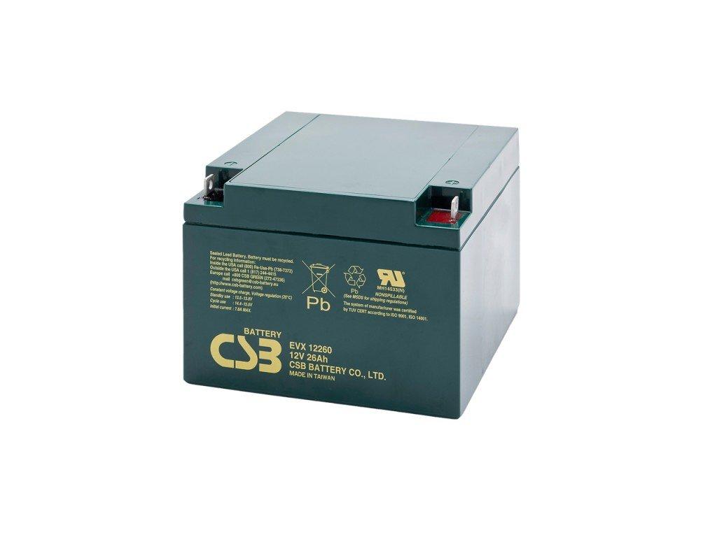 Baterie CSB EVX12260, 12V,  26Ah
