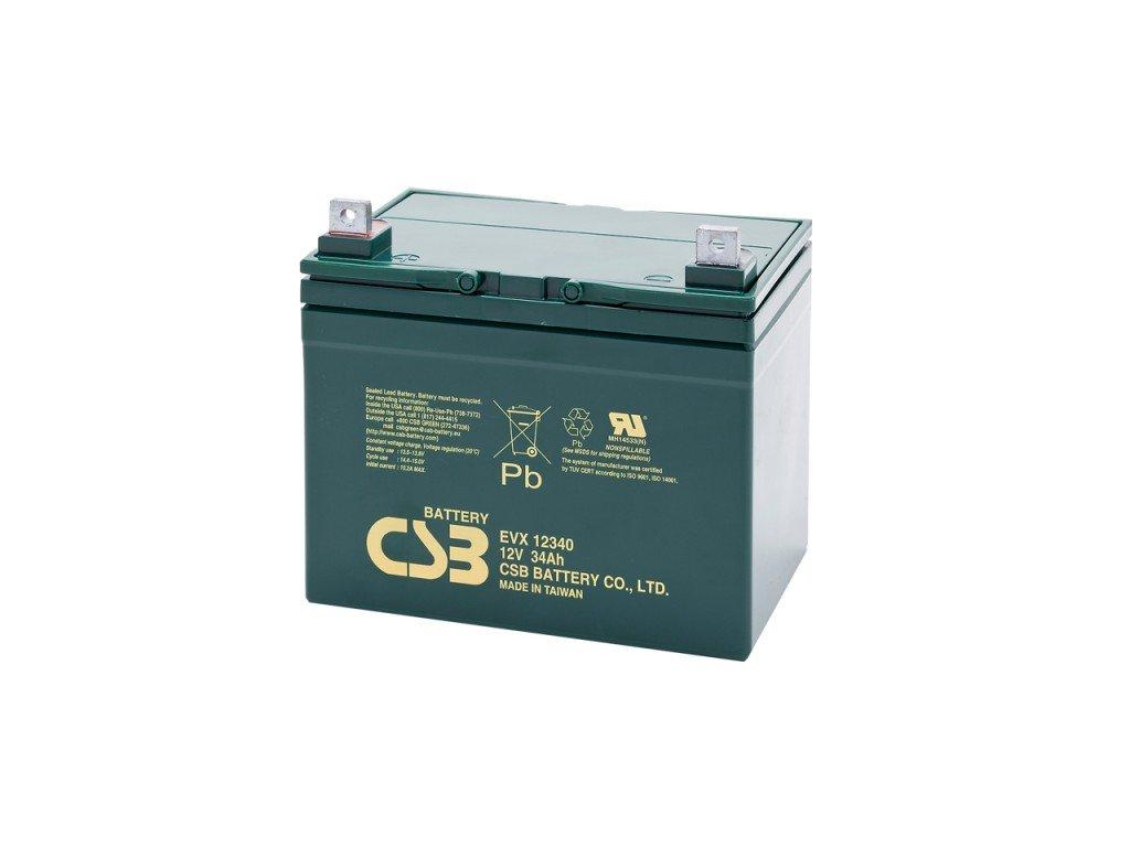 Baterie CSB EVX12340, 12V,  34Ah