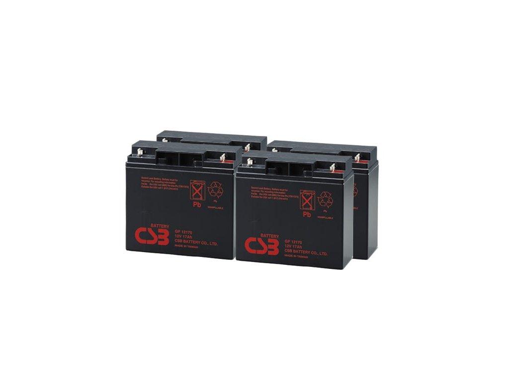 APC RBC11, alternativa bez příslušenství (4ks CSB GP12170)