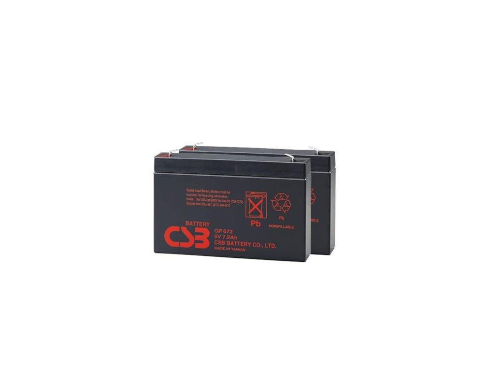 APC RBC18, alternativa bez příslušenství (2ks CSB GP672 F2)