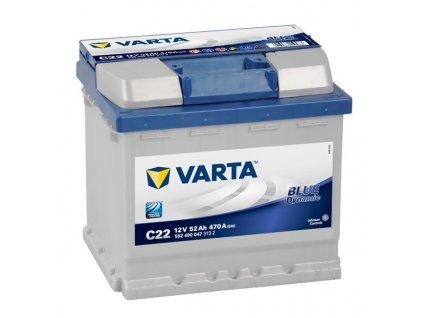 Autobaterie VARTA BLUE Dynamic 52Ah, 12V, C22