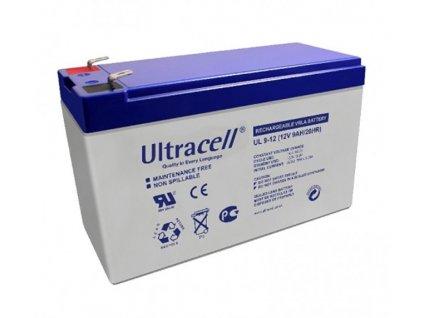 Ultracell UL9-12 F2 (12V - 9Ah), VRLA-AGM záložní baterie