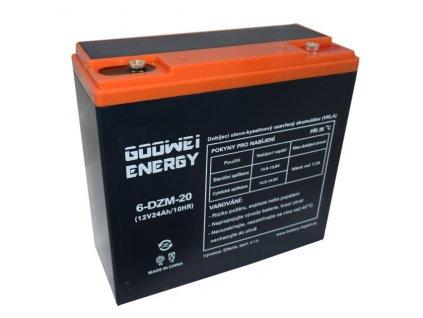 Trakční (GEL) baterie GOOWEI ENERGY - ELECTRIC VEHICLE 6-DZM-20, 24Ah, 12V