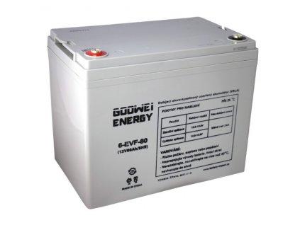 Trakční (GEL) baterie GOOWEI ENERGY - ELECTRIC VEHICLE 6-EVF-80, 80Ah, 12V