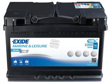 Baterie EXIDE DUAL EFB 100Ah, 12V, EZ850 (EZ 850)