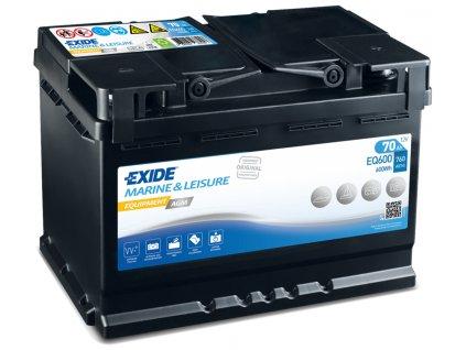 Baterie EXIDE EQUIPMENT AGM 70Ah, 12V, EQ600 (EQ 600)