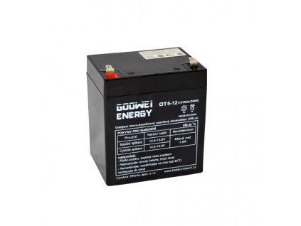 Staniční (záložní) baterie GOOWEI ENERGY OT5-12 F1, Faston 4.7mm, 5Ah,12V ( VRLA )