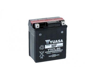 Motobaterie YUASA (originál) YTX7L-BS, 12V,  6Ah