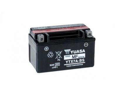 Motobaterie YUASA (originál) YTX7A-BS, 12V,  6Ah