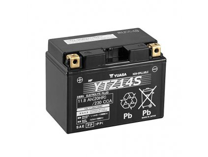 Motobaterie YUASA (originál, factory activated) YTZ14S, 12V,  11,2Ah