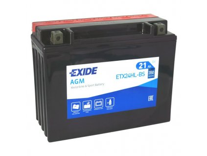 Motobaterie EXIDE ETX24HL-BS, 12V, 21Ah, 350A