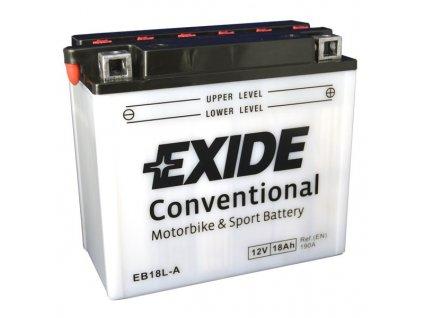 Motobaterie EXIDE BIKE Conventional 18Ah, 12V, EB18L-A