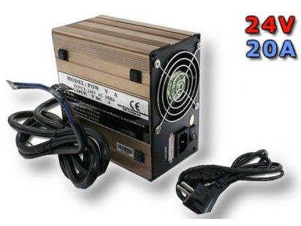 Nabíječ pro LiFePO4 články a baterie - 24V/20A