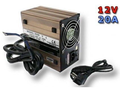 Nabíječ pro LiFePO4 články a baterie - 12V/20A