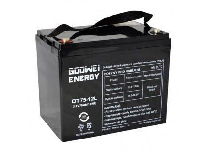 Trakční (GEL) baterie GOOWEI ENERGY OTL75-12, 75 Ah, 12V