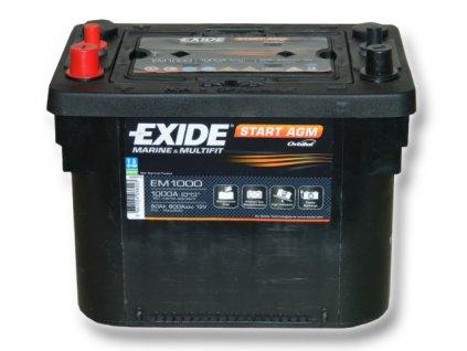 Baterie EXIDE START AGM  50Ah, 12V, EM1000 (EM 1000)