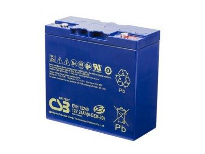 Baterie CSB EVH12240 (6-DZM-20), 12V, 24Ah