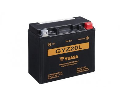 Motobaterie YUASA (originál) GYZ20L, 12V, 20Ah