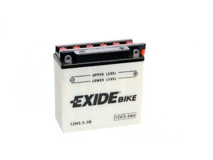 Motobaterie EXIDE BIKE Conventional 5,5Ah, 12V, 12N5.5-3B