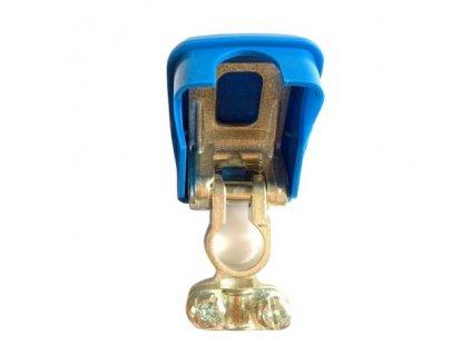 Akusvorka rychloupínací - lisovací samosvorná, modrá, pro mínus pól