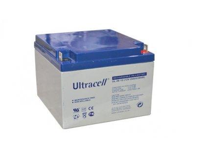 Ultracell UL26-12 (12V - 26Ah), VRLA-AGM záložní baterie