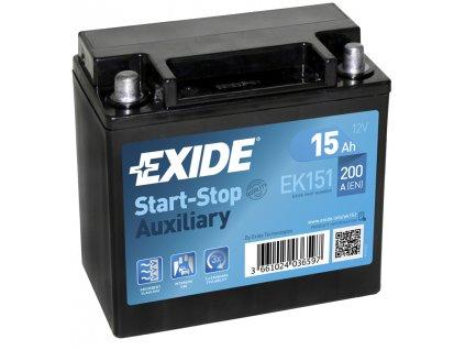 Autobaterie EXIDE START-STOP 12V 15Ah 200A EK151