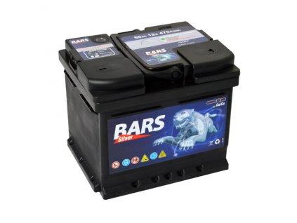 Autobaterie BARS 50Ah, 12V, 470A (207x175x175mm), bezúdržbový
