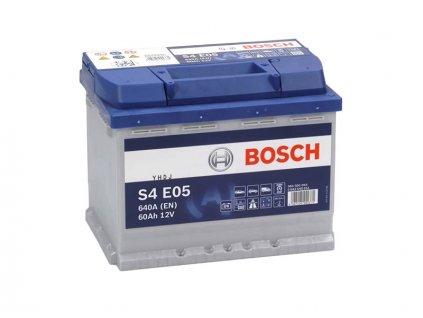 Autobaterie BOSCH S4 E05, 60Ah, 12V, EFB (0 092 S4E 050)