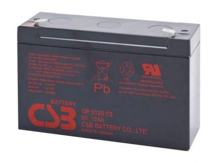 Baterie CSB GP6120 F2, 6V,  12Ah
