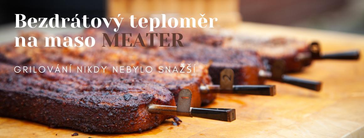 Novinka - Bezdrátový teploměr na maso Meater - sonda na maso