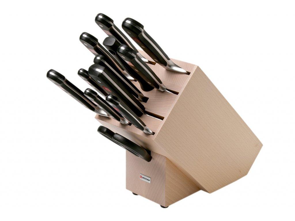 Blok s noži Wüsthof CLASSIC 12 dílů, Světlý