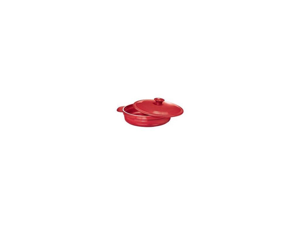 Kastrol Mělký 24 Cm Červená Lesklá