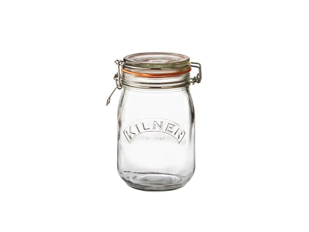Kilner kulatá zavařovací sklenice s klipem 1 l
