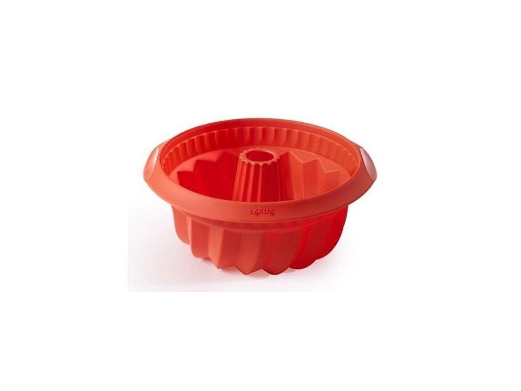 Lékué silikonová forma na bábovku hluboká červená