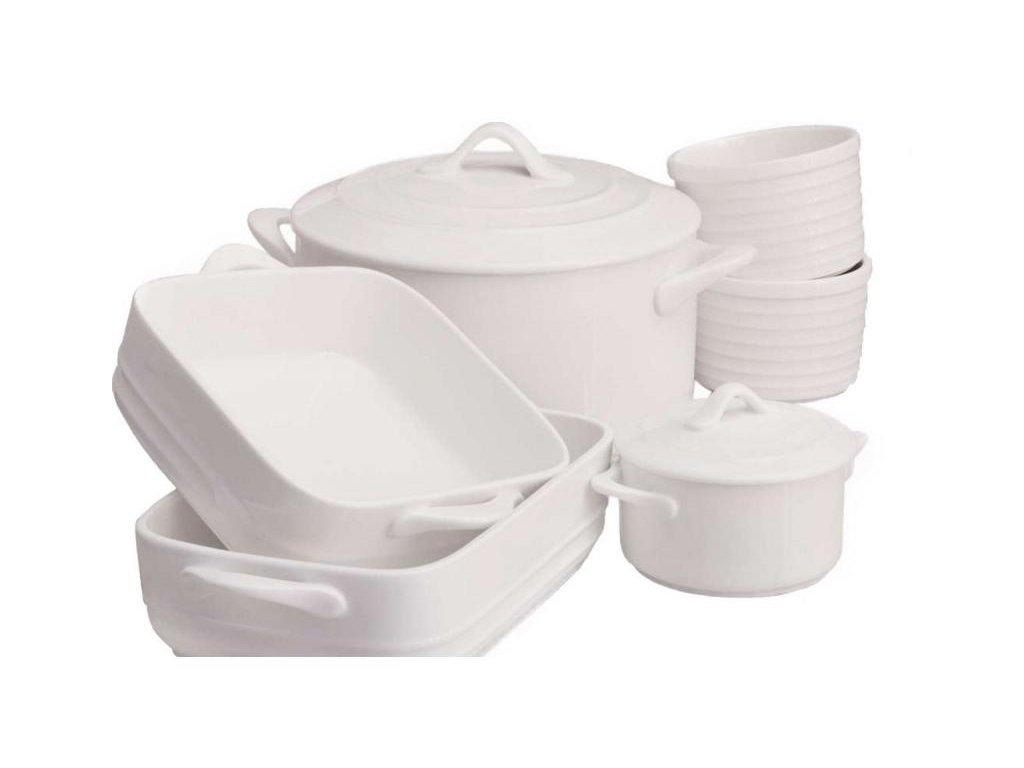 Maxwell&Williams WHITE BASICS OVEN CHEF 6dílná sada nádoby na pečení