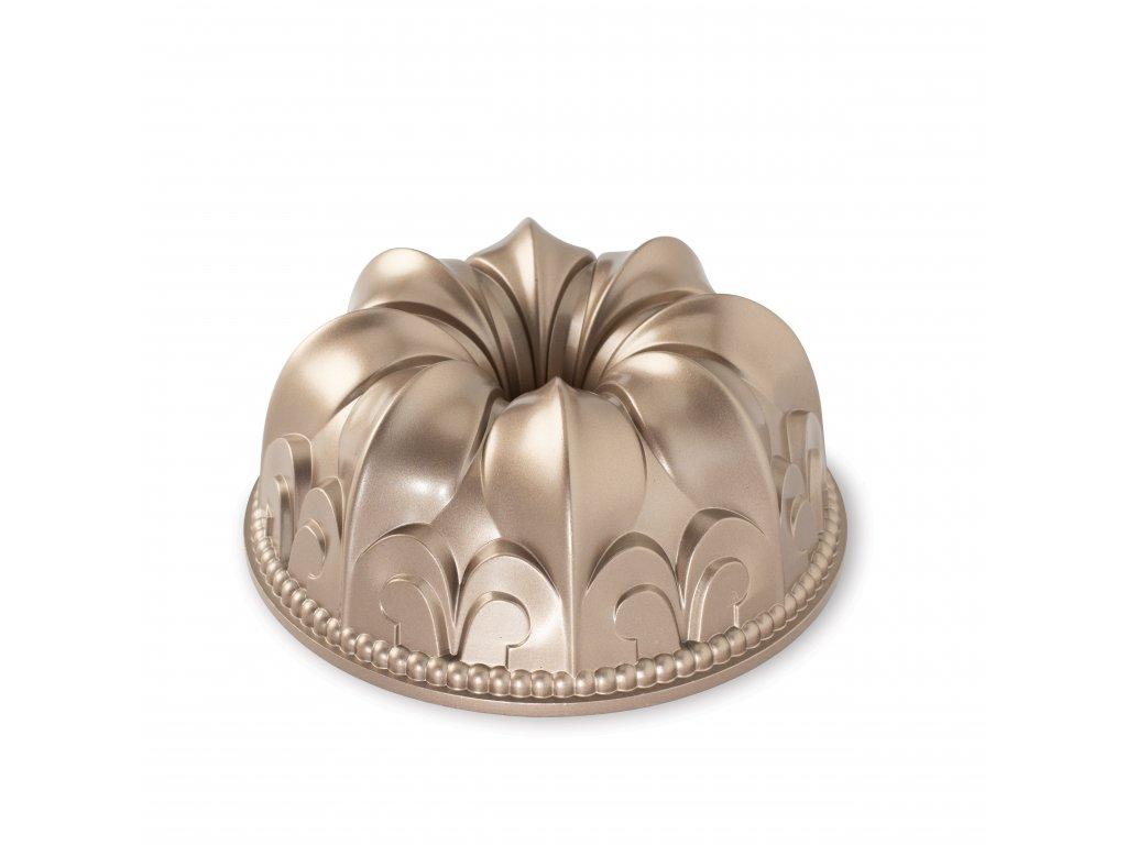 NordicWare Forma na bábovku lilie Fleur De Lis Bundt® měděná, Nordic Ware litý hliník s nepřilnavým povrchem