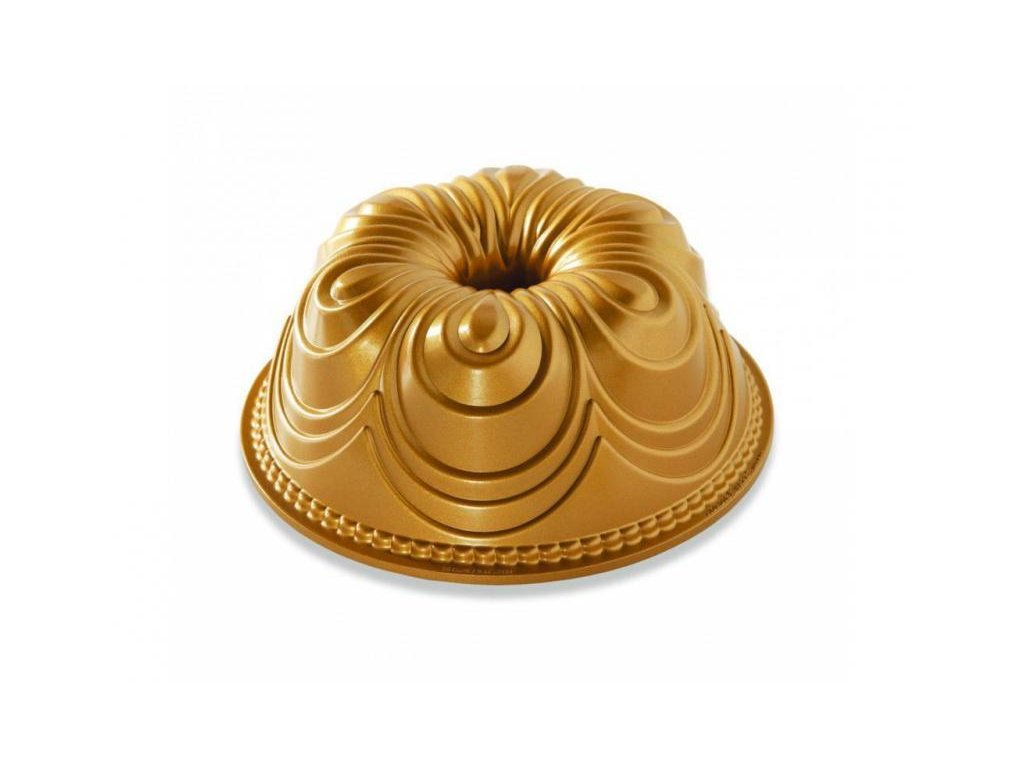 Nordic Ware forma na bábovku Chiffon 10 cup zlatá